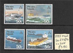 Pitcairn Islands MNH 273-6 Open Base Ships 1985