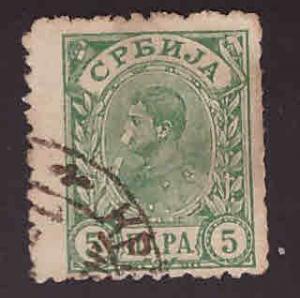Serbia Scott 49 Used scuffed stamp
