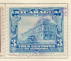 Nicaragua 1928 Early Issue Fine Used 3c. 323665