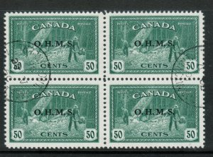Canada #O9 Very Fine Used Block With CDS Cancels