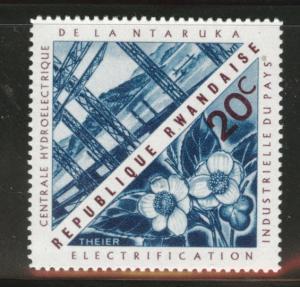 RWANDA Scott 202 MH* Hydroelectric stamp 1967