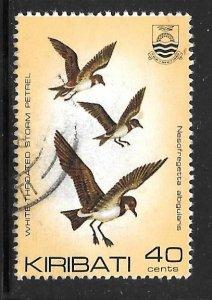 Kiribati 395: 40c Polynesian Storm-Petrel (Nesofregetta fuliginosa), used, VF
