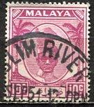 Malaya Perak; 1950: Sc. # 111; O/Used Single Stamp
