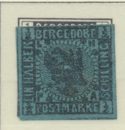 Bergedorf (German State) Stamp Scott #1, Used, Has Gum, Faults - Free U.S. Sh...