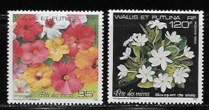 Wallis and Futuna Islands 445-46 Flowers Mothers Day set MNH