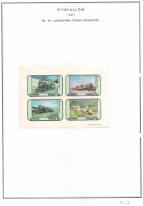 SCOTLAND - EYNHALLOW - 1981 - Steam Locos #6 - Imperf 4v Sheet - MLH