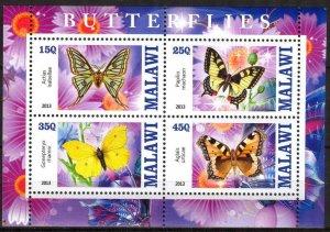 Malawi 2013 Butterflies (2) MNH Cinderella !