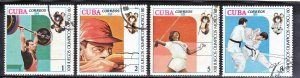 CUBA SC# 2305+06+07+09  **USED** 1980   1+2+5+8c  SEE SCAN