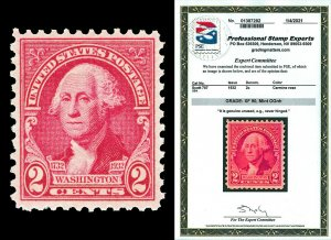 Scott 707 1932 2c Washington Issue Mint Graded XF 90 NH with PSE CERTIFICATE!