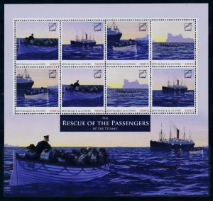 [93184] Guinea 2012 Ships Titanic Rescue Passengers Sheet MNH