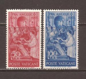 Vatican scott #195-96 m/h stock # N4614