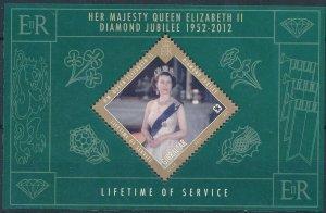 [1131] Gibraltar 2012 Queen Elizabeth II good Sheet very fine MNH