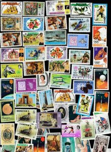 Dominica  -  Great Selection of 53 Different Mint Non Hinged Stamps