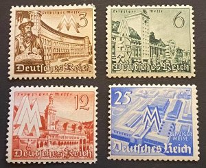 Germany 1940 #494-497 Mi 739-742 Mint Never Hinged Set OG