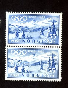 NORWAY #B52 MINT PAIR F-VF OG NH Cat $30