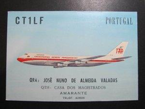 9825 Amateur Radio QSL Card CASA DO MAGISTRATOS AMARANTE BOEING 747 B