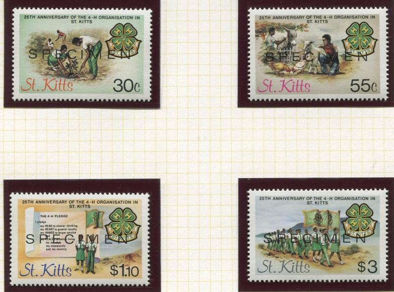 St Kitts - Scott 153-156 -Specimen- 25th Anniversary -1984 -MNH- Set of 4 Stamps