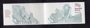 Great Britain   #BK326  10 x 7p  1978  booklet country crafts thatching  B