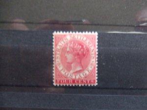 Straits QV 1882 4c rose mint SG51