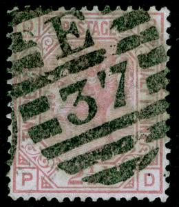 SG141, 2½d rosy mauve PLATE 16, USED. Cat £80. PD