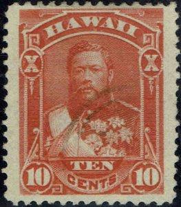 HAWAII #45 1883 10c REGULAR ISSUE  USED--BIG STAMP--VERY LITE CANCEL
