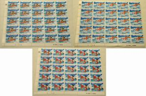 3 TURKS & CAICOS ISLANDS DISNEY Animation Stamps Postage Blocks Collection MNH