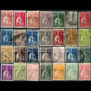 PORTUGAL 1921 - Scott# 270-97 Ceres 75c-10e Used