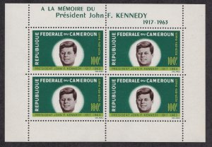 Cameroun # C52a, John F. Kennedy Memorial, Souvenir Sheet, NH 1/2 Cat.