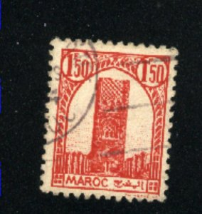 French Morocco 187    used  1943  PD