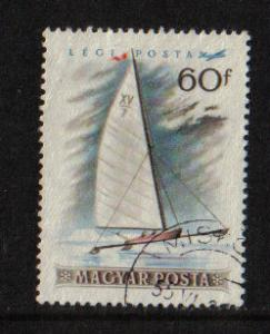 Hungary  1955  used Air winter sports 60fi. ice-yacht  #
