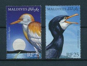 [103081] Maldives 2000 Birds vögel oiseaux From sheets MNH