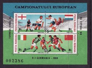 Romania-Sc#3523b-Unused NH perforated sheet-Sports-European
