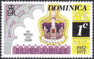 Dominica # 522 mnh ~ 1¢ Silver Jubilee - Imperial Crown