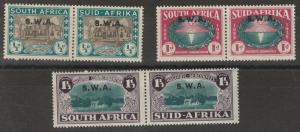 SOUTH WEST AFRICA 1939 HUGENOT SET PAIRS