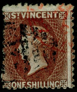 ST. VINCENT SG14, 1s brown, USED. Cat £160.