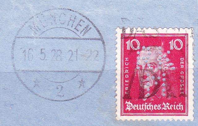 Germany 1928,  special postmark