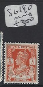 BURMA (P0304B)    KGVI  1P  SG 19A  MNH