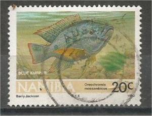 NAMIBIA, 1992, used 20c Fish, Scott 710