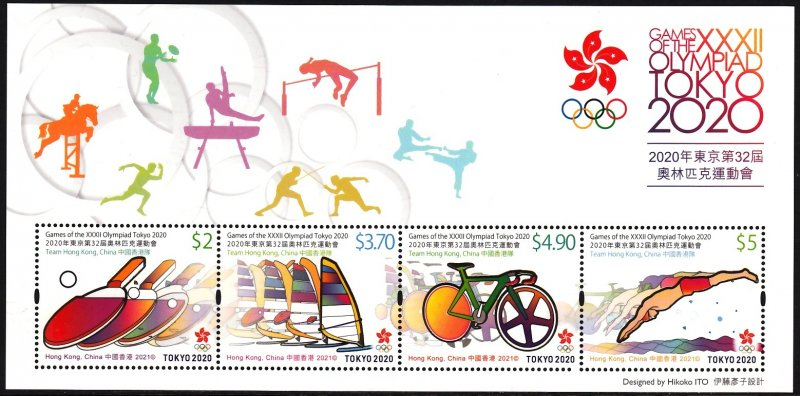 HONG KONG 2021 TOKYO OLYMPICS JEUX OLYMPIQUES OLYMPISCHE SPIELE [#2112]