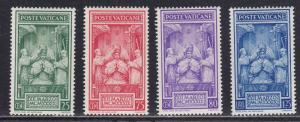 Vatican City # 68-71, Mint Hinged, Small thin on # 68