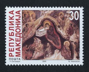 Macedonia 203 MNH Christmas, Art