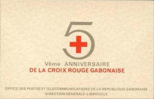 Gabon 1969 Red Cross booklet Sc# C86-89 NH