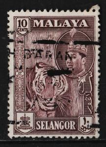 Malaya (Selangor) 1961/1962 Various Designs $10 (1/7) USED