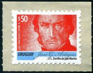 HERRICKSTAMP NEW ISSUES URUGUAY Sc.# 2555 Artigas Red $50