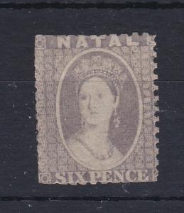 Natal 1859 - 64 6D Grey Mint No Gum Spacefiller RB99
