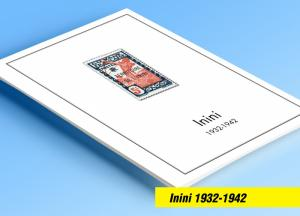 COLOR PRINTED ININI 1932-1942 STAMP ALBUM PAGES (9 illustrated pages)