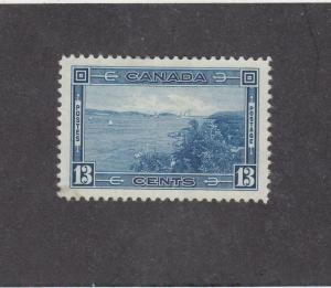 CANADA (MK3468) # 242  VF-MH 13cts  HALIFAX HARBOUR / DEEP BLUE  CAT VALUE $20