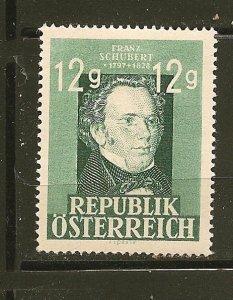 Austria 491 Franz Schubert Mint Hinged