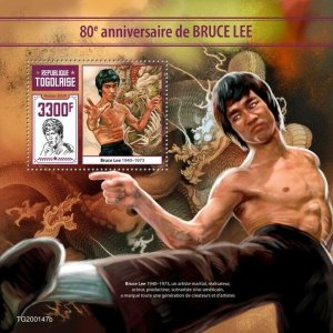 Togo Famous People 2020 MNH Bruce Lee Martial Arts Actors 1v S/S