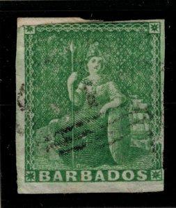 Barbados Stamp Scott #1, Used